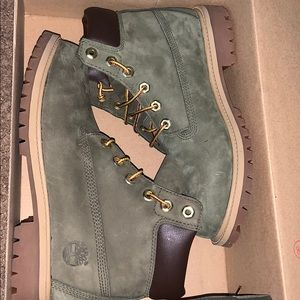 3cf93ccf Women Olive Green Timberlands on Poshmark